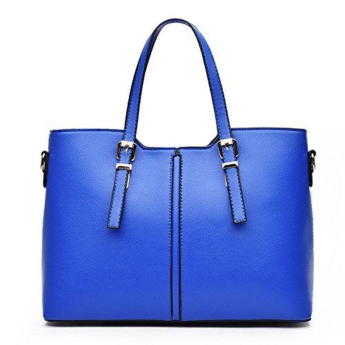Bolso De Hombro De Las Mujeres Bolso Messenger Fashion Costura Simple De Gran Capacidad Blue