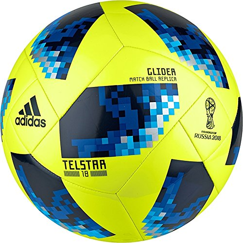 adidas Unisex Russia Telstar 2018 World Cup Glider Soccer Ball, Yellow/Blue/Royal, size 5