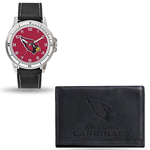 Rico NFL Men's Watch and Wallet Set WTWAWA3601, Arizona Cardinals