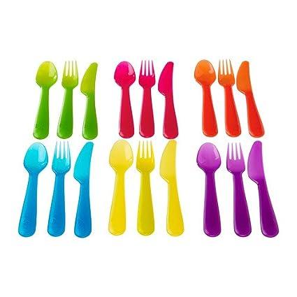 IKEA Kalas Juego de cubiertos (cuchara/tenedor/cuchillo), varios colores,