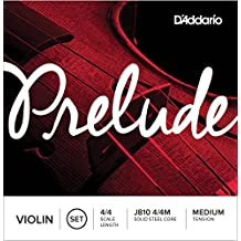 D'Addario Prelude Violin String Set, 4/4 Scale, Medium Tension,J810 4/4M