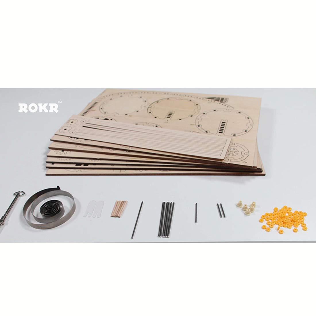 Foxom Robotime 3D Puzzle Lasergeschnittenes Holzpuzzle Holzpuzzle Holzpuzzle - Luftfahrzeug Hölzernes Puzzle Montage Konstruktor Kit - Geschenk für Erwachsene Kinder ab 8 c10579