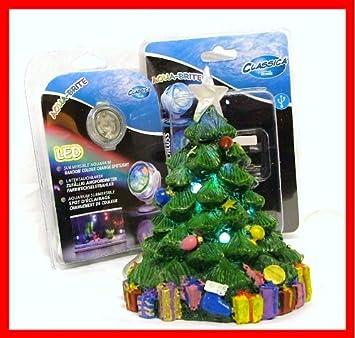 MULTI COLOUR CHRISTMAS TREE AQUARIUM AQUA ORNAMENT: Amazon.co.uk ...