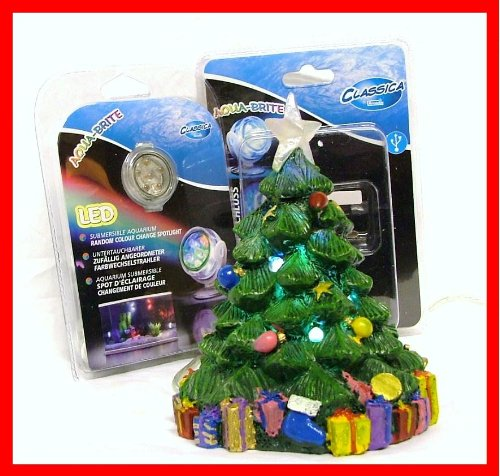 multi colour christmas tree aquarium aqua ornament amazoncouk sports outdoors