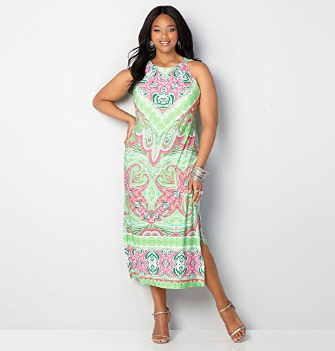 AVENUE-Womens-Kaleidoscope-Paisley-Maxi-Dress