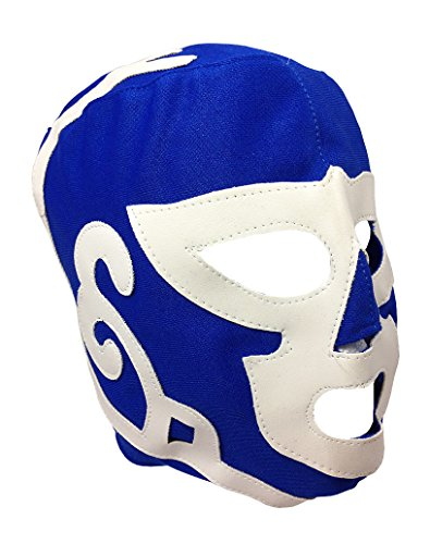 HURACAN RAMIREZ Youth Lucha Libre Wrestling Mask - KIDS Costume Wear - BLUE