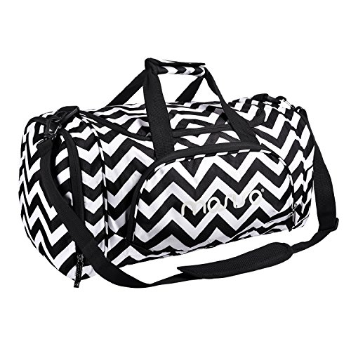 - MOSISO Water Resistant Gym Sports Dance Travel Weekender Duffel Bag with Shoe Compartment, Chevron Black