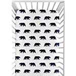 Sweet-Jojo-Designs-Navy-Blue-and-White-Bear-Print-Baby-or-Toddler-Fitted-Crib-Sheet-for-Big-Bear-Collection