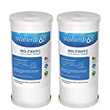 Waterdrop FXHTC Whole Home System Filter Replacement for American Plumber WRC25HD,GE FXHTC (2 Pack)
