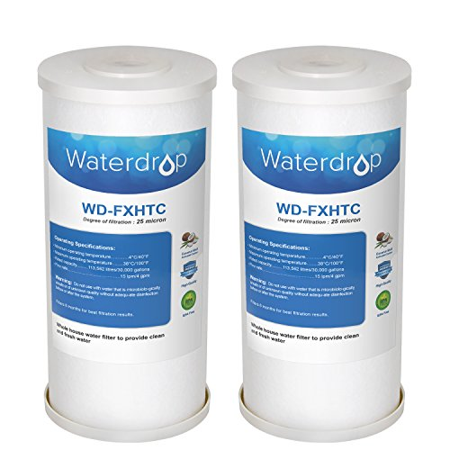 Waterdrop FXHTC Whole Home System Filter, Compatible with American Plumber WRC25HD, GE FXHTC (Pack of 2)