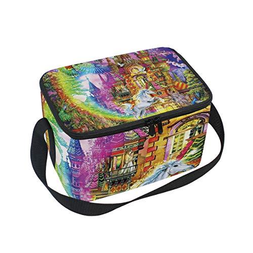 Castle Kit Enchanted - Enchanted Castle Lunch Box Insulated Lunch Bag Large Cooler Tote Bag Picnic School Women Men Kids