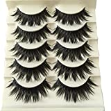 5 Pairs Ultra Thick Cross False Eyelashes Natural Black Long Eye Lash Extensions