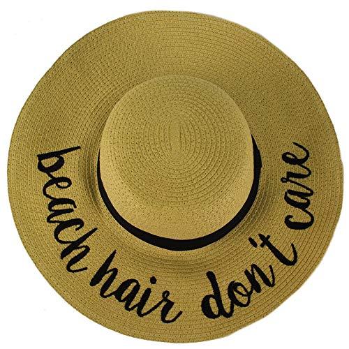 a1de1d6a0c862 C.C Fun Verbiage Elegant Wide Brim 4  Summer Derby Beach Pool Floppy Dress  Sun Hat