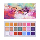 Eyeshadow Palette Docolor 21Colors Fantasy Makeup Palette Matte Shimmer Eye Shadow Pallete Waterproof Powder Natural Pigmented Nude Naked Smokey Professional Cosmetic
