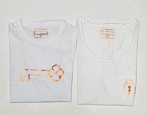 PACK Camisetas M/C Candado-Llave Blanco (Adulto Hombre/Mujer): Amazon.es: Handmade