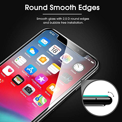 new arrivals 59caa d1b30 OMOTON HD Tempered Glass Screen Protector Compatible with Apple iPhone Xs &  iPhone X 5.8 inch [2 Pack]