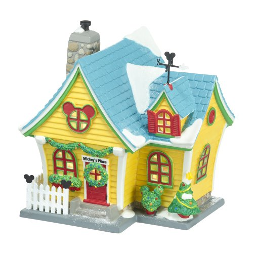 Department 56 4027599 Disney Village Mickey's House, 6.46 inch