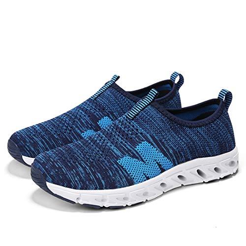 Outdoor Fashion Sport Shoe Lightweight Running Athletic Blue Men's Flyknit Trainer SEVENWELL Sneaker Women's SXq4Uwz