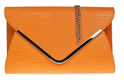 Girly Handbags - Sac à main / Pochette - Noir Orange