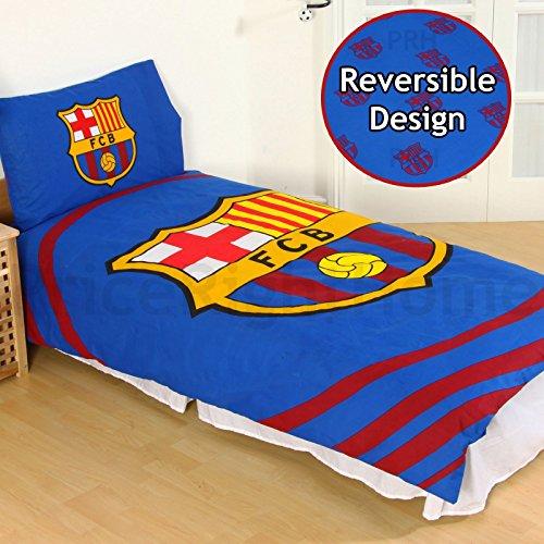Official Barcelona Fc 'pulse' Single Duvet Cover And Pillowcase Set ()