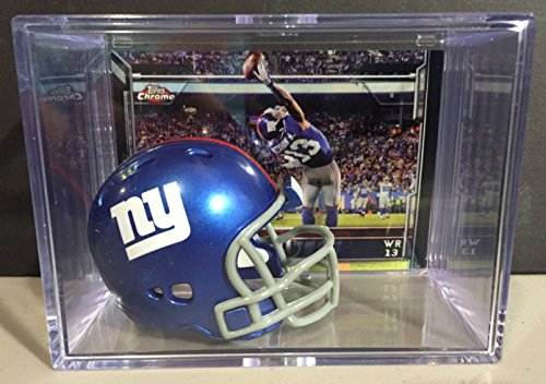 New York Giants Nfl Helmet Shadowbox W  Odell Beckham Jr  With The Catch Card