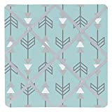 Sweet Jojo Designs Turquoise Blue and Gray Earth and Sky Arrow Print Fabric Memory/Memo Photo Bulletin Board