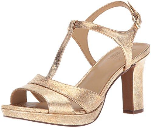 - Naturalizer Women's FINN Heeled Sandal, Platino, 8 W US
