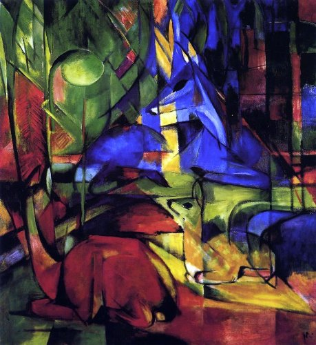 (Art Oyster Franz Marc Deer in The Forest II - 20.05