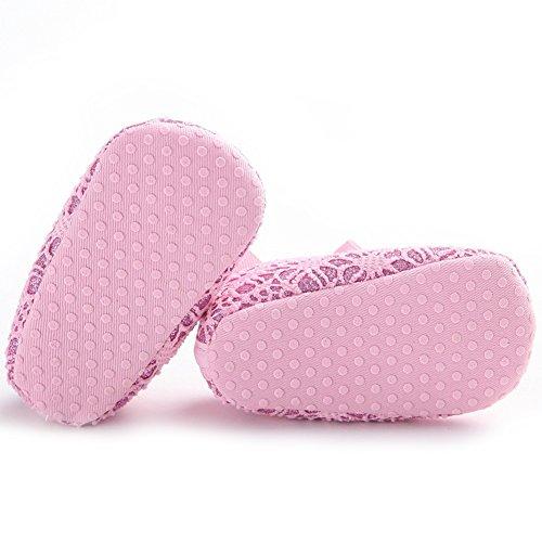 Pueri Sandalia del bebé Para los primeros pasos Zapatillas agradables Zapatillas de las niñas de la primavera y el verano Rosado