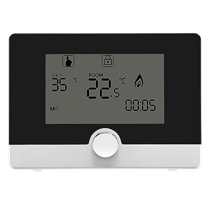 Asixx Termostato, Termostato Programable, con La Pantalla LCD, para El Equipo de Calefacción