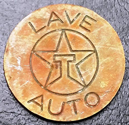 TEXACO LAVE AUTO CAR WASH TOKEN VERY SCARCE VARIETY