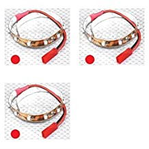3 x Quantity of DJI Phantom LED Strip with JST Connector 200mm Red Lights Night Flying