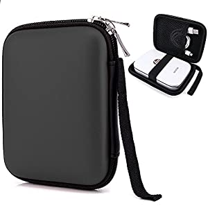 Elvam Easy Carrying Zippered Travel Mobile Printer Pouch Case for Polaroid ZIP Mobile Printer and HP Sprocket Portable Photo Printer