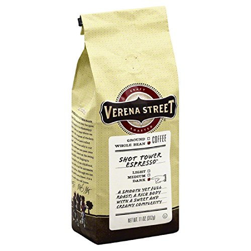 Verena Street 11 oz. Coffee Shot Tower Espresso - Whole Bean, Case Of 6
