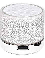 LGXJP Mini Wireless Bluetooth Colorful Light Small Crack Sound Speaker Subwoofer Exquisite craftsmanship, high quality sound (Color : White)