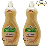Palmolive Soft on Hands & Soft on Nails Utra Soft Touch With Coconut butter Dishwashing Liquid Soap Detergent, 25 Oz Twin Pack, (25 Oz x 2, Total 50 Oz)