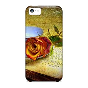 [mueibhc6582QSOpg] - New Rose Old Book Protective Iphone 5c Classic Hardshell Case