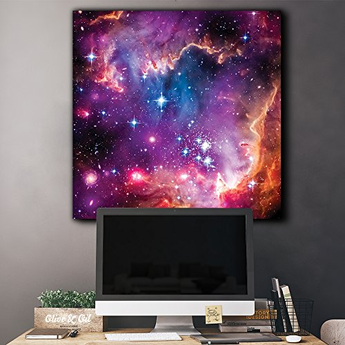 Vibrant Pink and Purple Outerspace with Galaxies and Stars