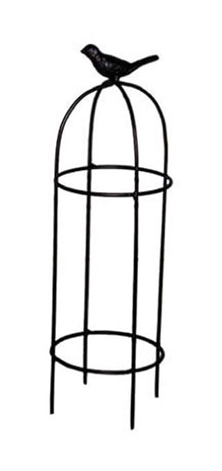 Gut Mini-Rankhilfe Rund H 30 cm Metall dunkelbraun Rankturm  BA55