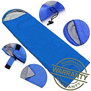 AIR BOLING Sleeping Bag, Envelope Portable and Lightweight for 2-3Season Camping, Hiking, Traveling, Backpacking and Outdoor Activities, Great for Kids, Boys, Girls, Teens & Adults, Royal Blue