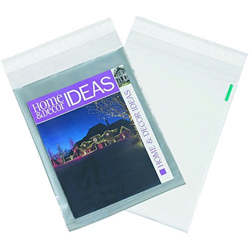 100 Pack #4 10 x 13 Inch Oknuu Packaging Supplies Clear View Poly Mailers Self-Sealing Shipping Envelopes Plastic Mailing Bags 2.5 Mil Thickness 10