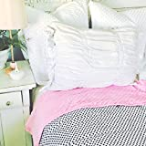 ReachTherapy Solutions Weighted Blankets - Includes Duvet Cover & Insert - Made in USA (10 lbs & H 65'' x W 45'', Polka Dots)
