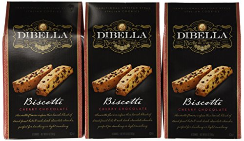 DiBella Gourmet Biscotti: Cherry Chocolate (Pack of 3) 6.6 oz Boxes