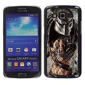 EJOY---Cubierta de la caja de protección la piel dura para el / Samsung Galaxy Grand 2 / --Guerrero Preditor