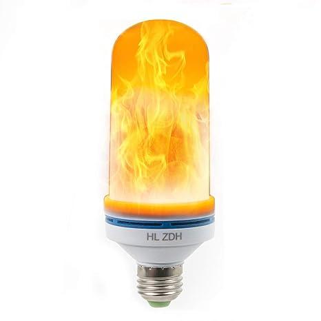 LED Llama lámpara, hlzdh 4 W E27 Bombilla LED Bombilla de fuego, llamas la bombilla simulierte ...