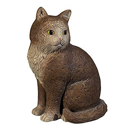 Cement Cat Garden Statue