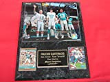 DOLPHINS Bob Griese Ryan Tannehill Dan Marino 2 Card Collector Plaque w/8x10 Photo
