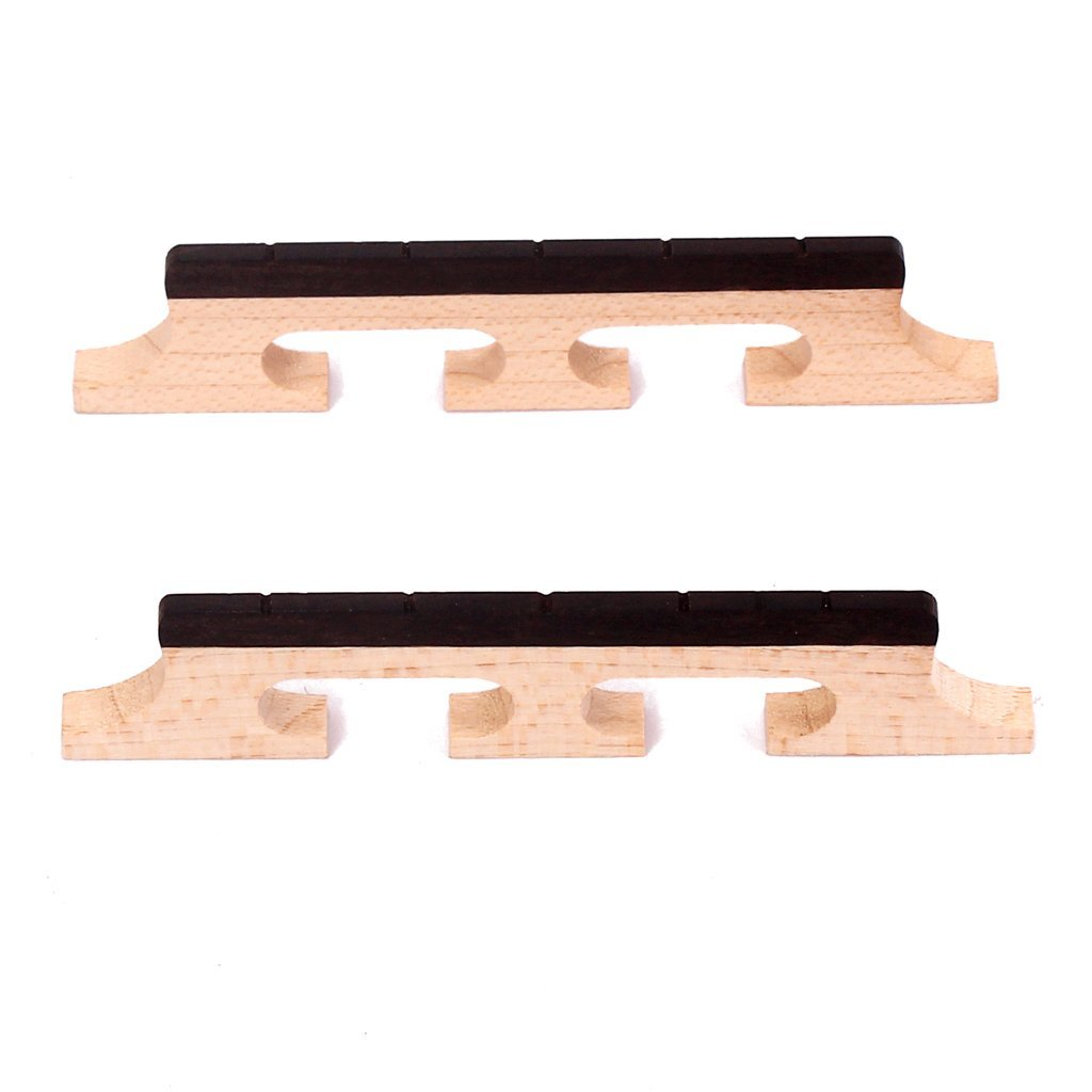 Maple and Ebony Banjo Bridge 5 String 3 Footed Pack of 2 Pcs Generic STK0157002645