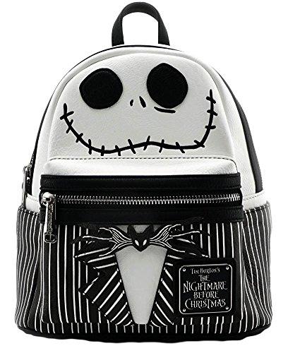 Loungefly Nightmare Before Christmas Jack Mini Backpack Black/White Jack Skeleton Nightmare Before Christmas