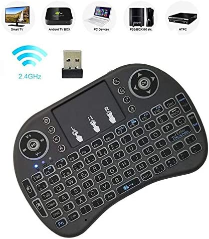 Support Language Spanish i8 Air Mouse Wireless Keyboard with Touchpad for Android TV Box /& Smart TV /& PC Tablet /& Xbox360 /& PS3 /& HTPC//IPTV Premium Material